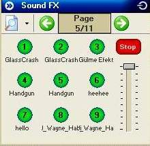 sam2 sound fx efect yerleştirmek